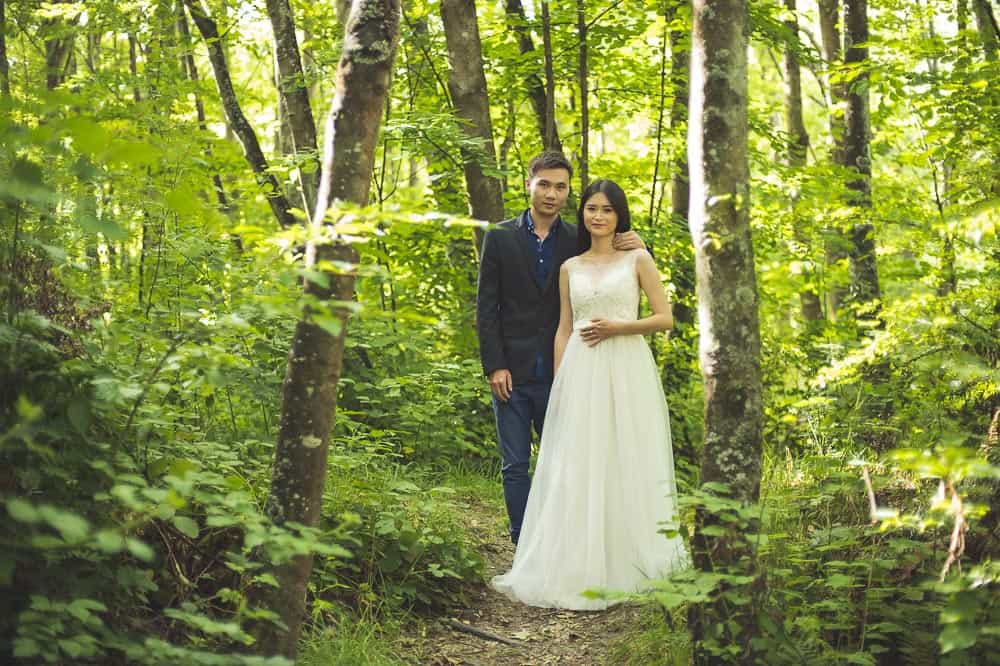 Arrowtown trash the dress session forest