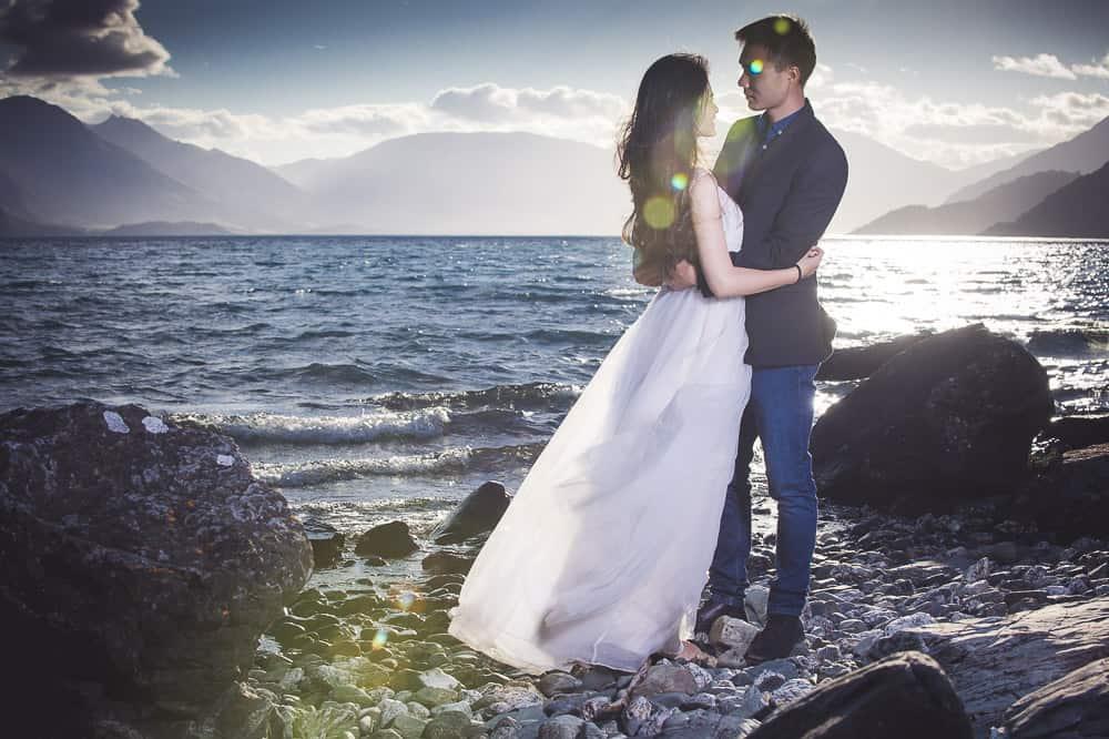 Kelvin Heights Trash The Dress Session Pre-wedding shoot lake view