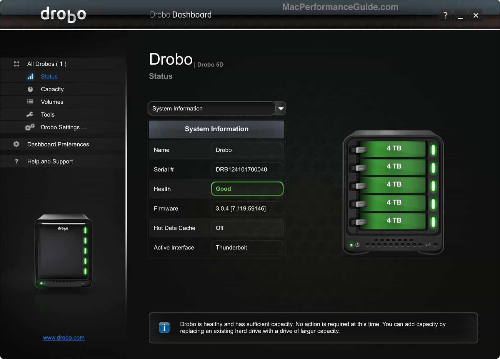 Drobo 5d image backup hard drive
