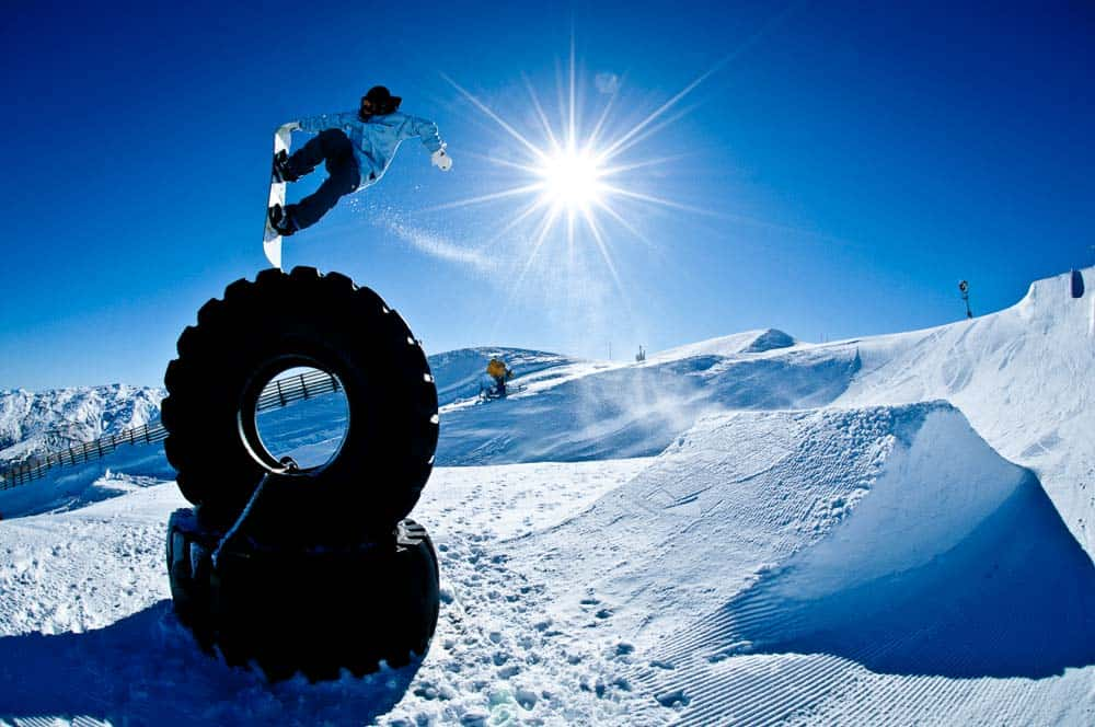 queenstown snowboarding terrain park snowpark wanaka