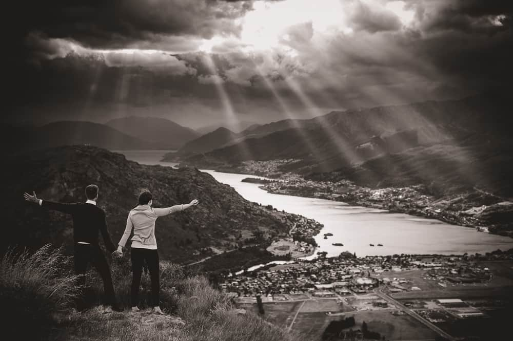 Sydney & Jeff's rather dramatic Wanaka Engagement Session fallon photography