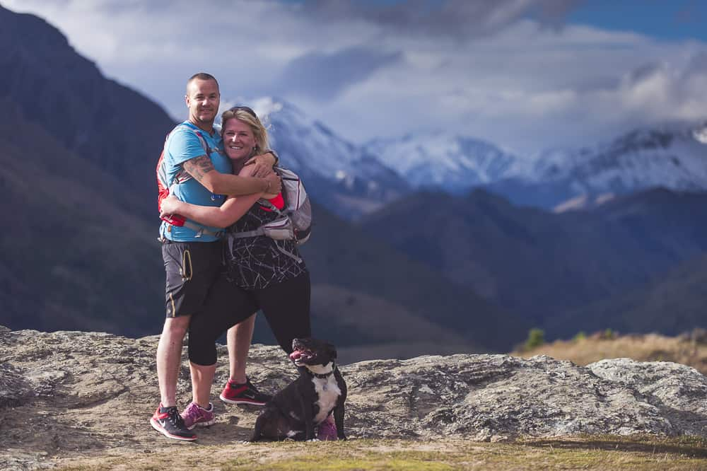 Epic light + stunning location + awesome couple + world's happiest dog = beautiful pix from Gill, Cathal & Reggie Dog's Engagement Shoot! fallon photography