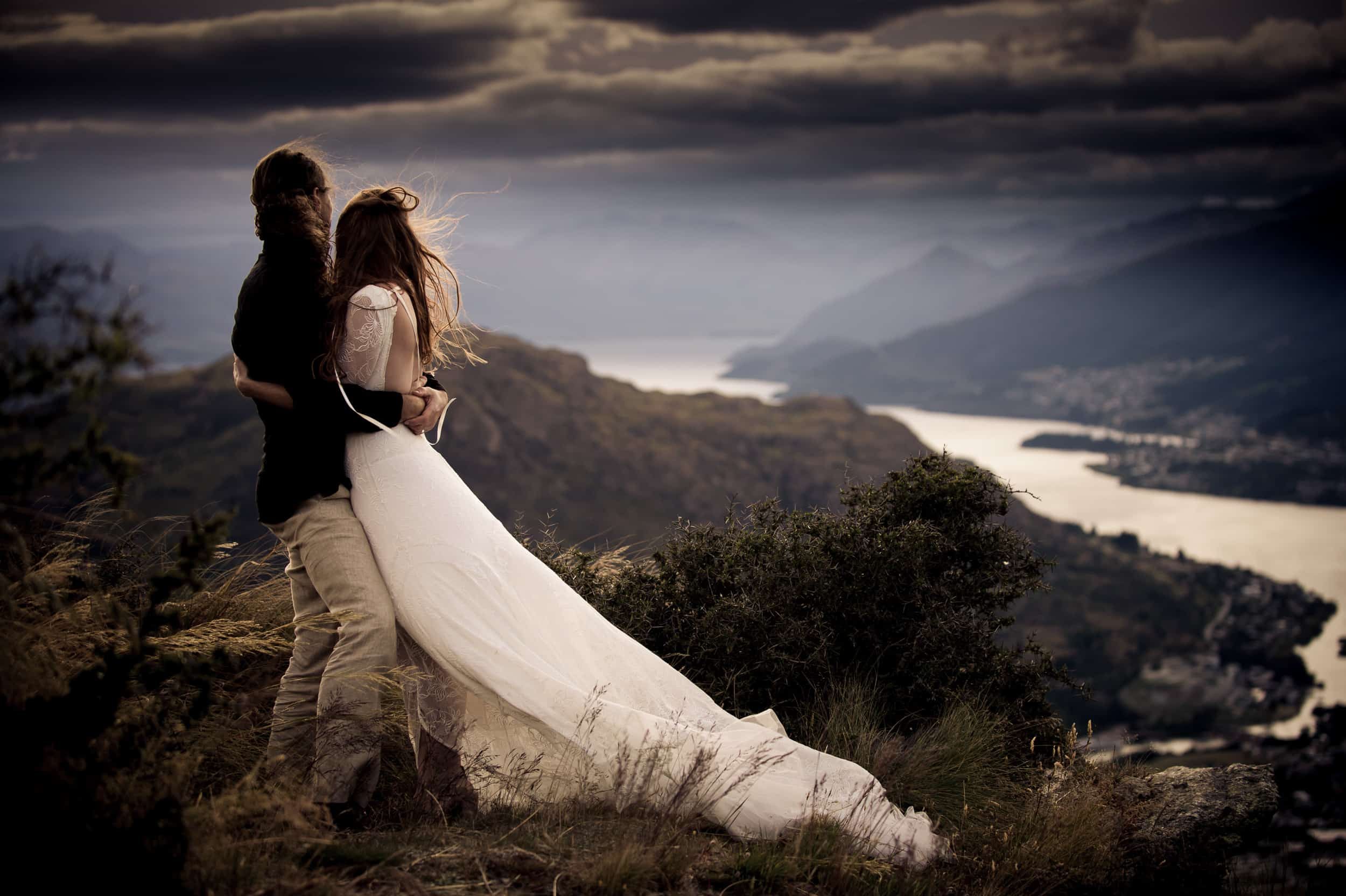 blog post featured image Some amazing bride feedback from Orla & Arthur's wild and wind-swept Queenstown Elopement style wedding fallon photography