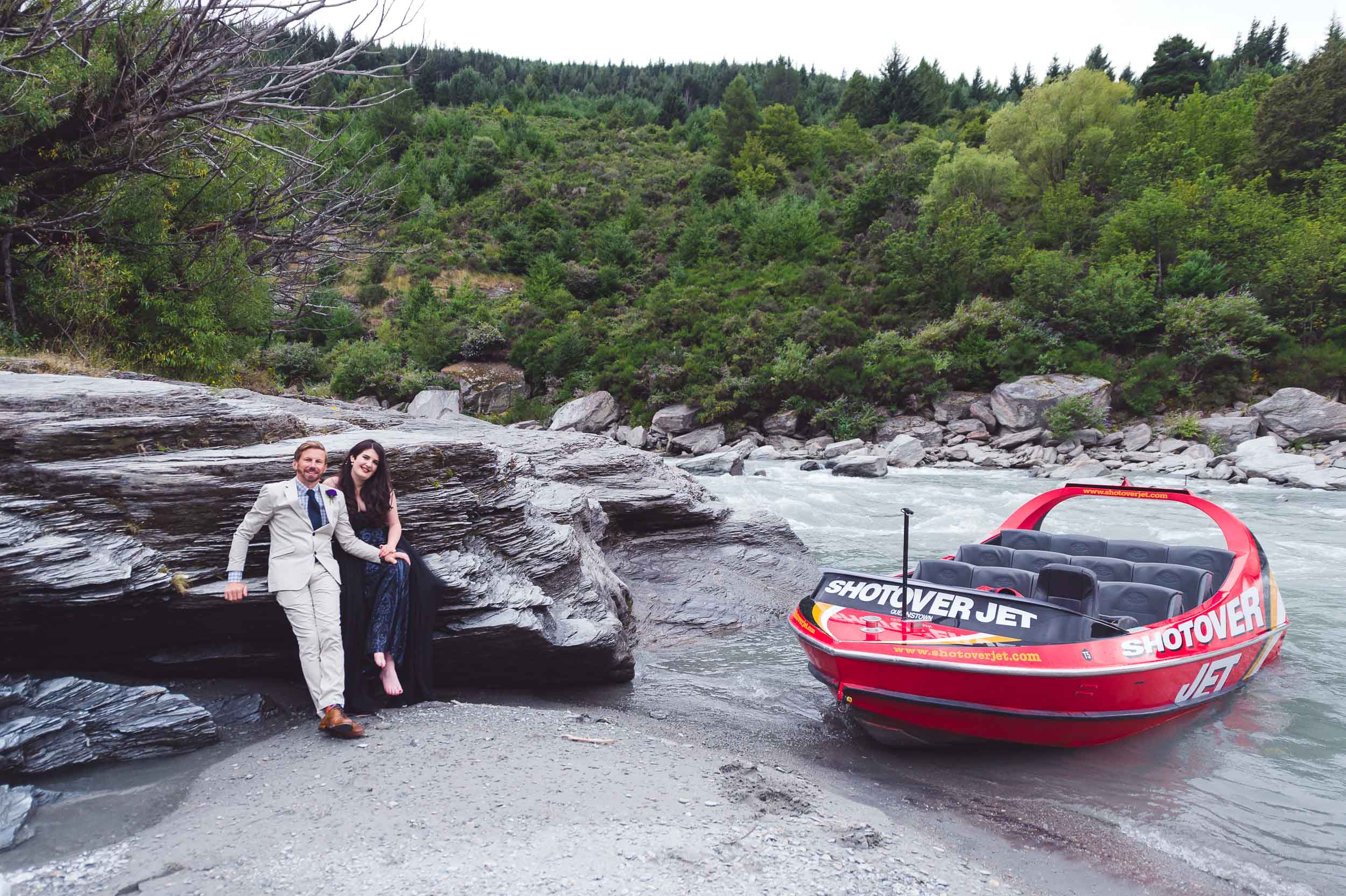 Shotover jet jetboat wedding