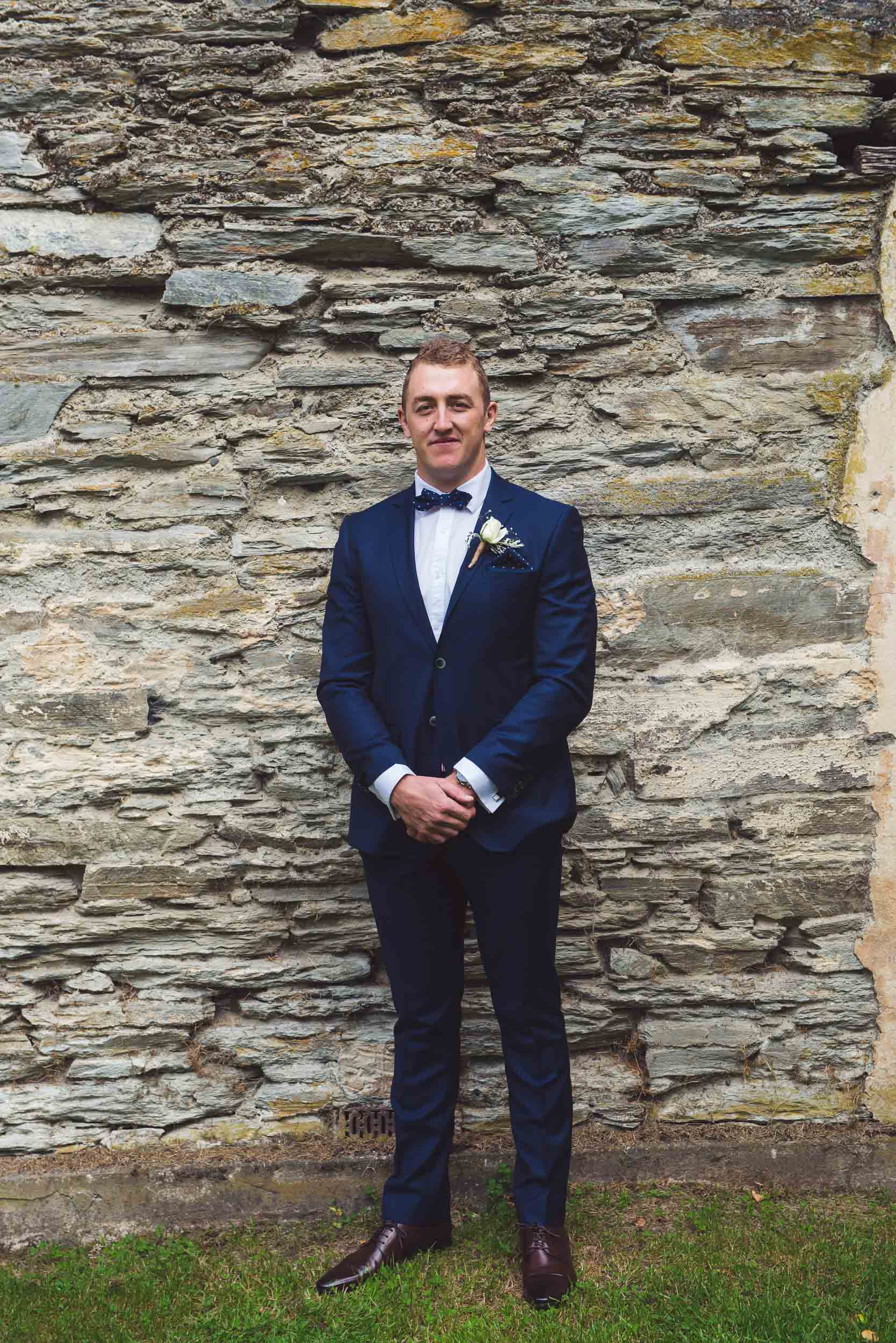 Thurlby Domain ruins wedding ceremony groom