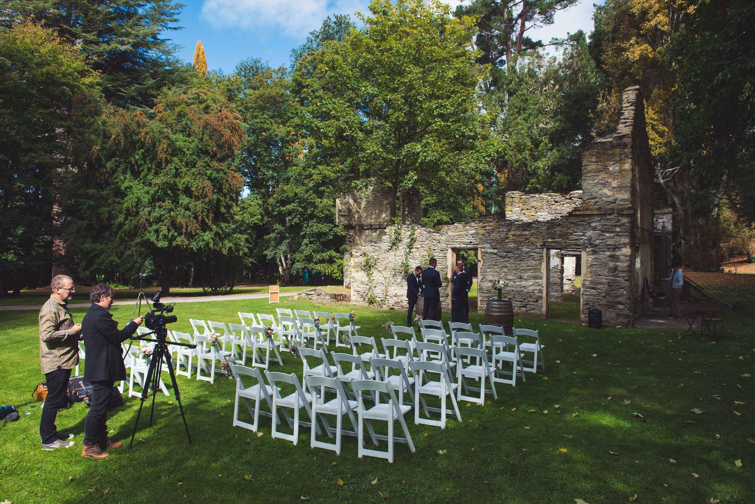 Thurlby Domain ruins wedding ceremony