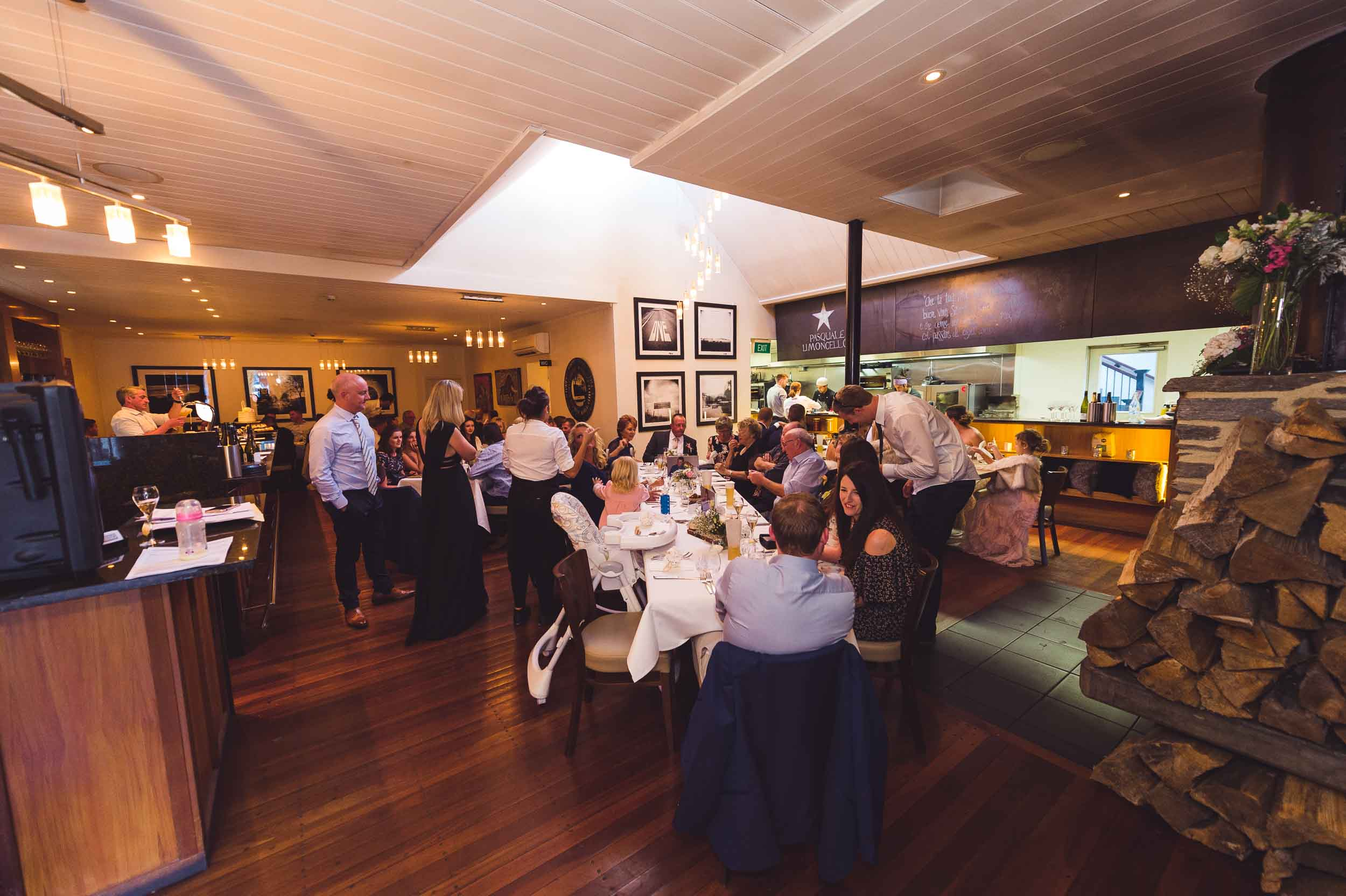 Sasso Italian Dining Queenstown restaurant wedding reception
