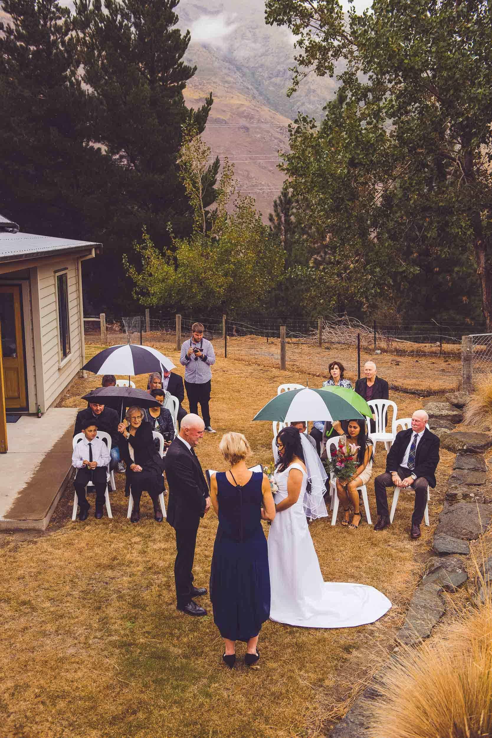 backyard gibbston valley wedding