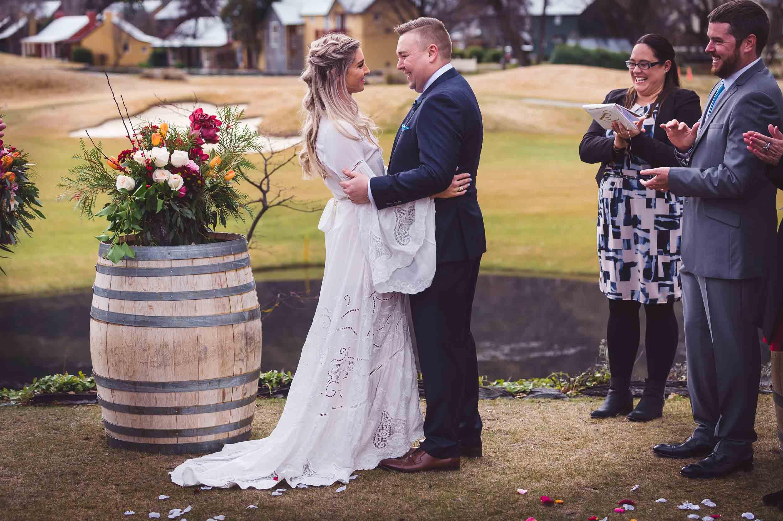 blog post wedding venues Laura + Nick | Winter Wedding at Milbrook Resort fallon photography