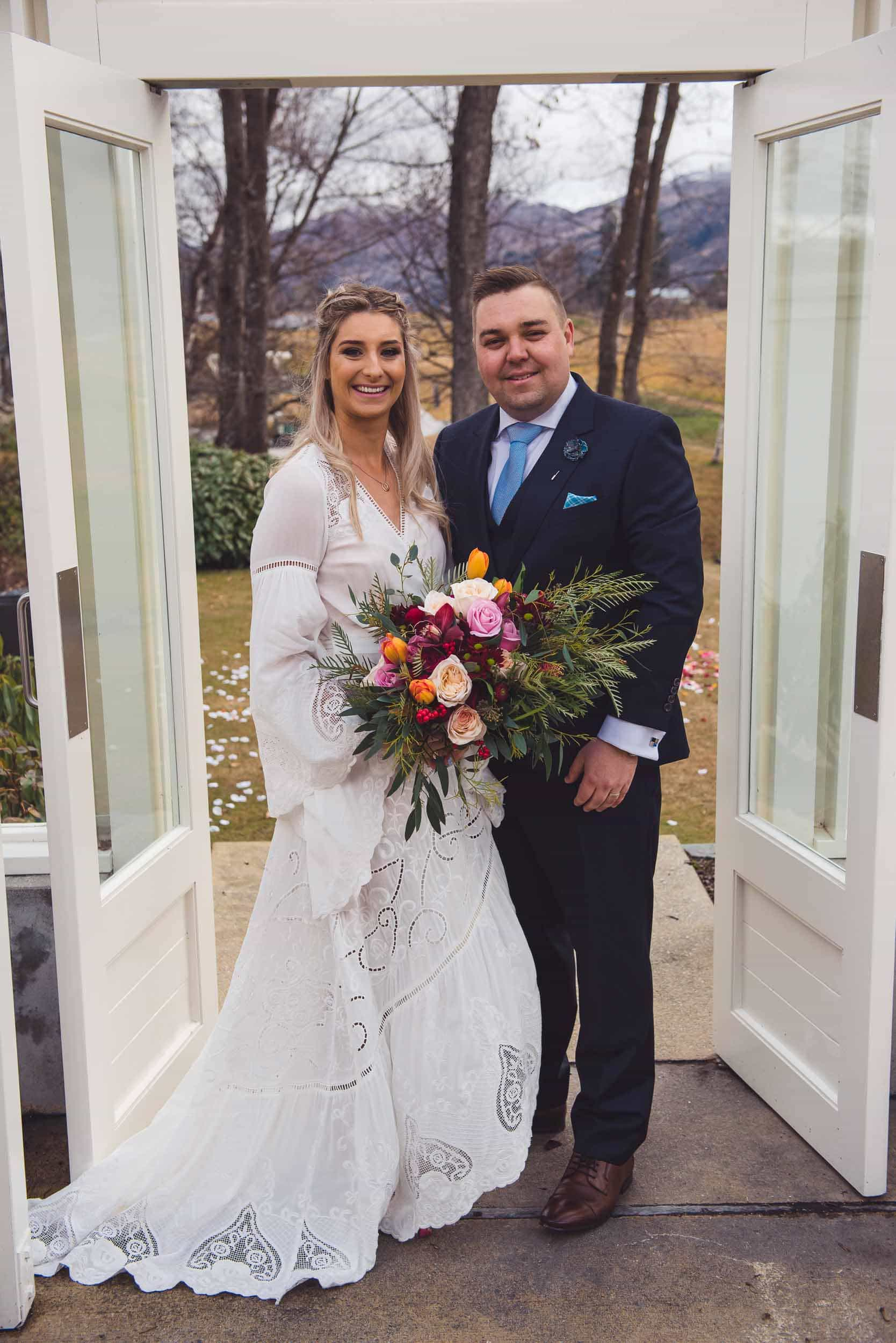 Millbrook resort winter wedding secret garden ceremony