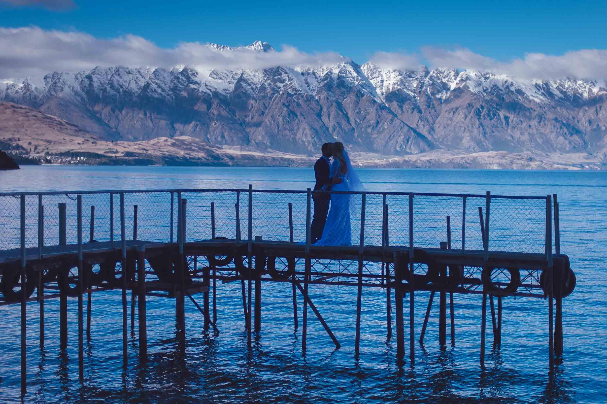Sunshine Bay Queenstown destination lakeside elopement
