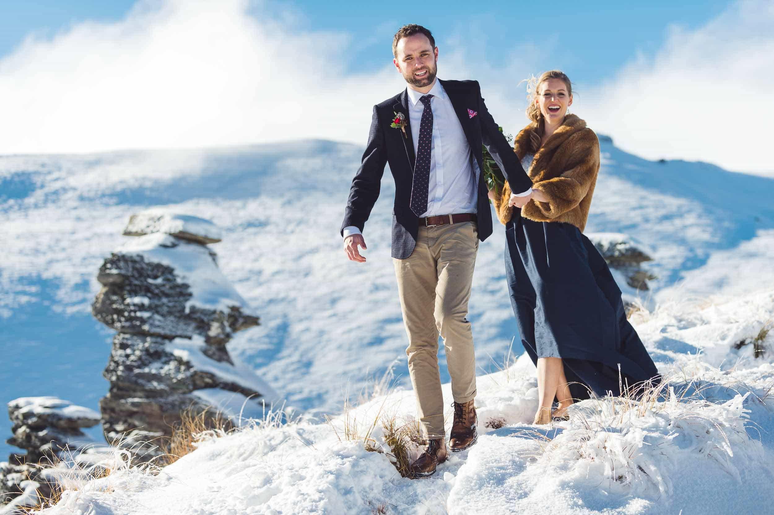 spectacular queenstown winter wedding