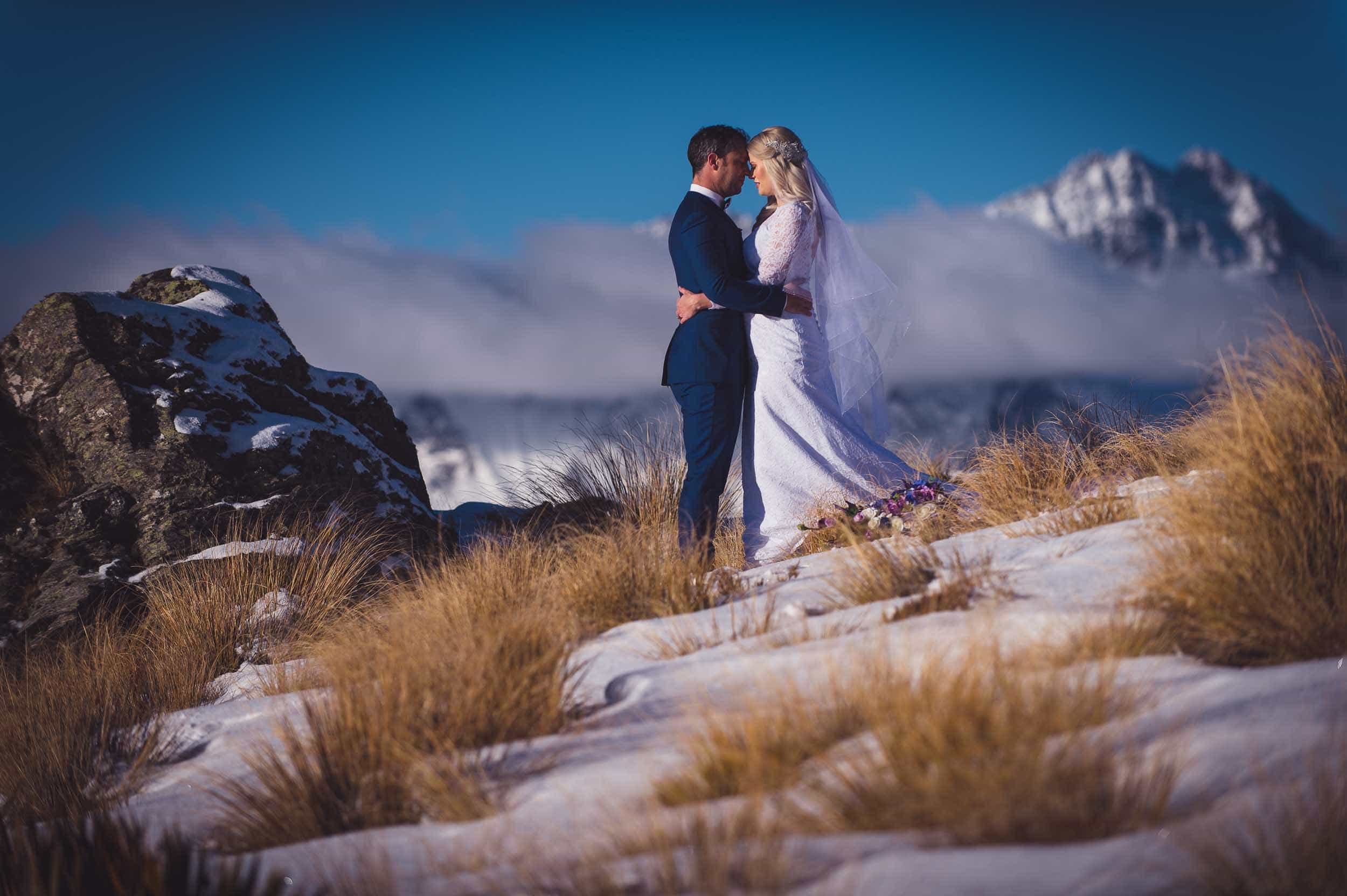 Queenstown wedding trends Kestin + Chris | Queenstown Midwinter Elopement fallon photography Bob's Cove Elopement