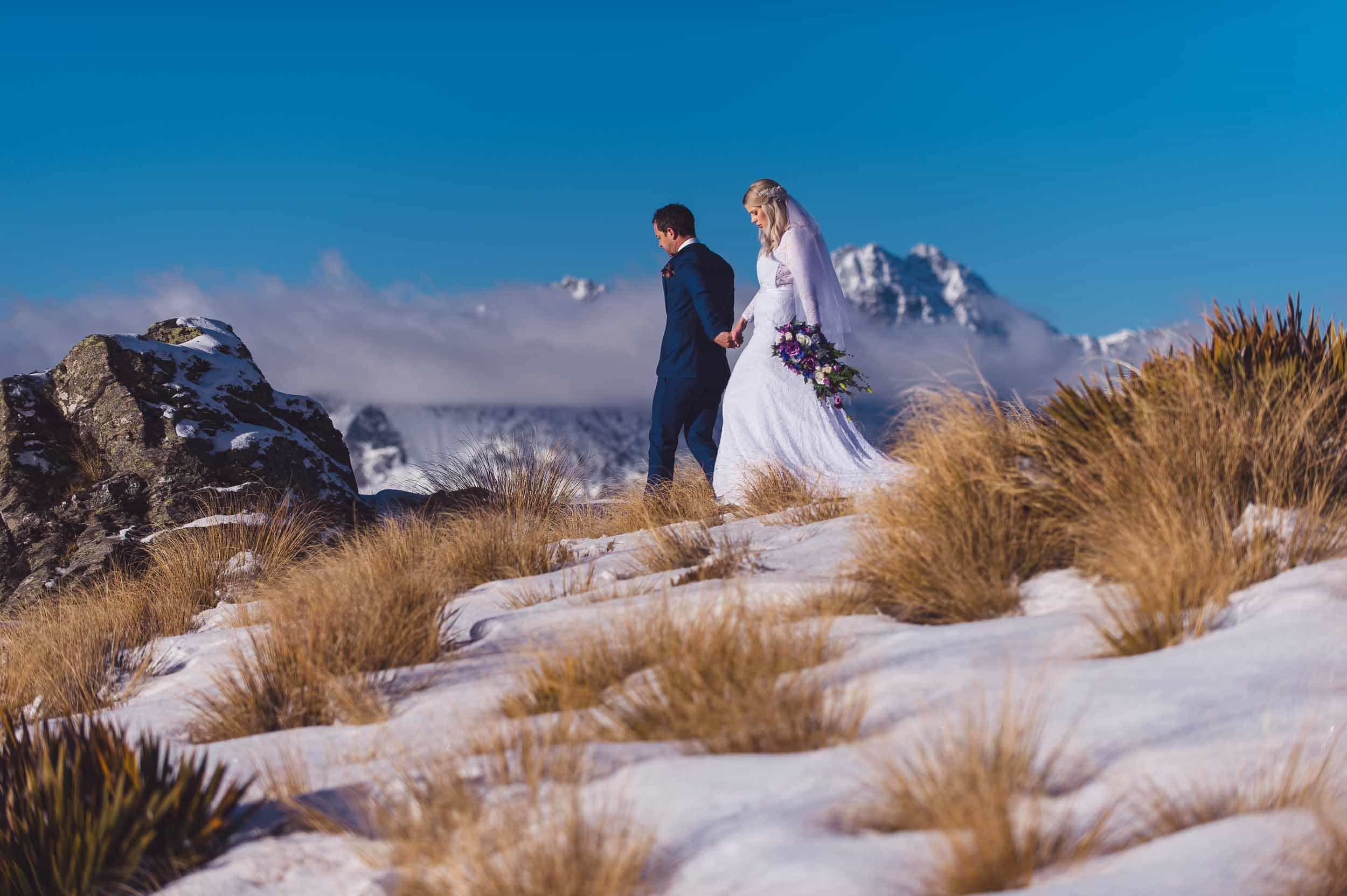 Kestin + Chris | Queenstown Midwinter Elopement fallon photography Bob's Cove Elopement