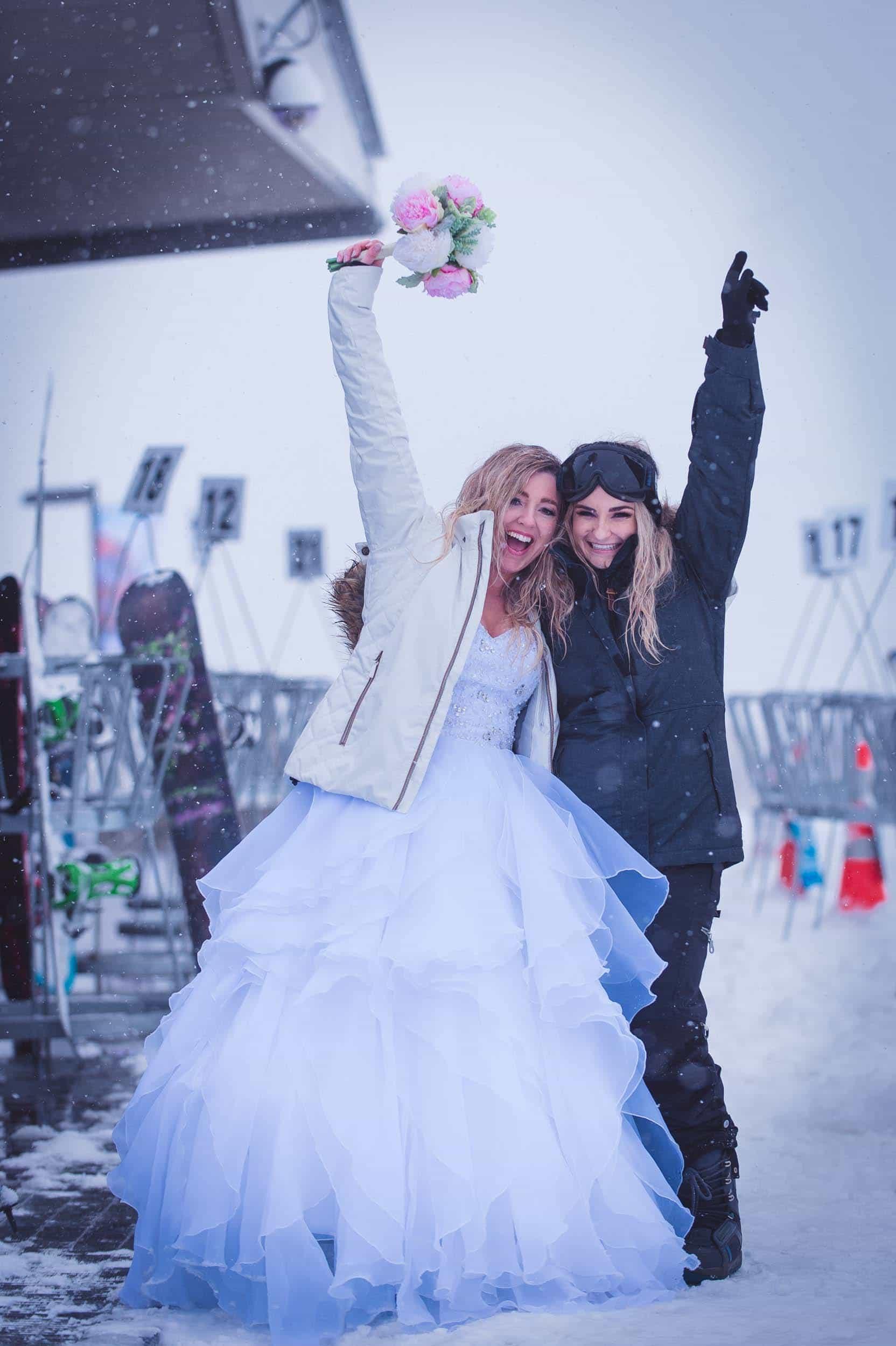 Queenstown Snowboard Wedding
