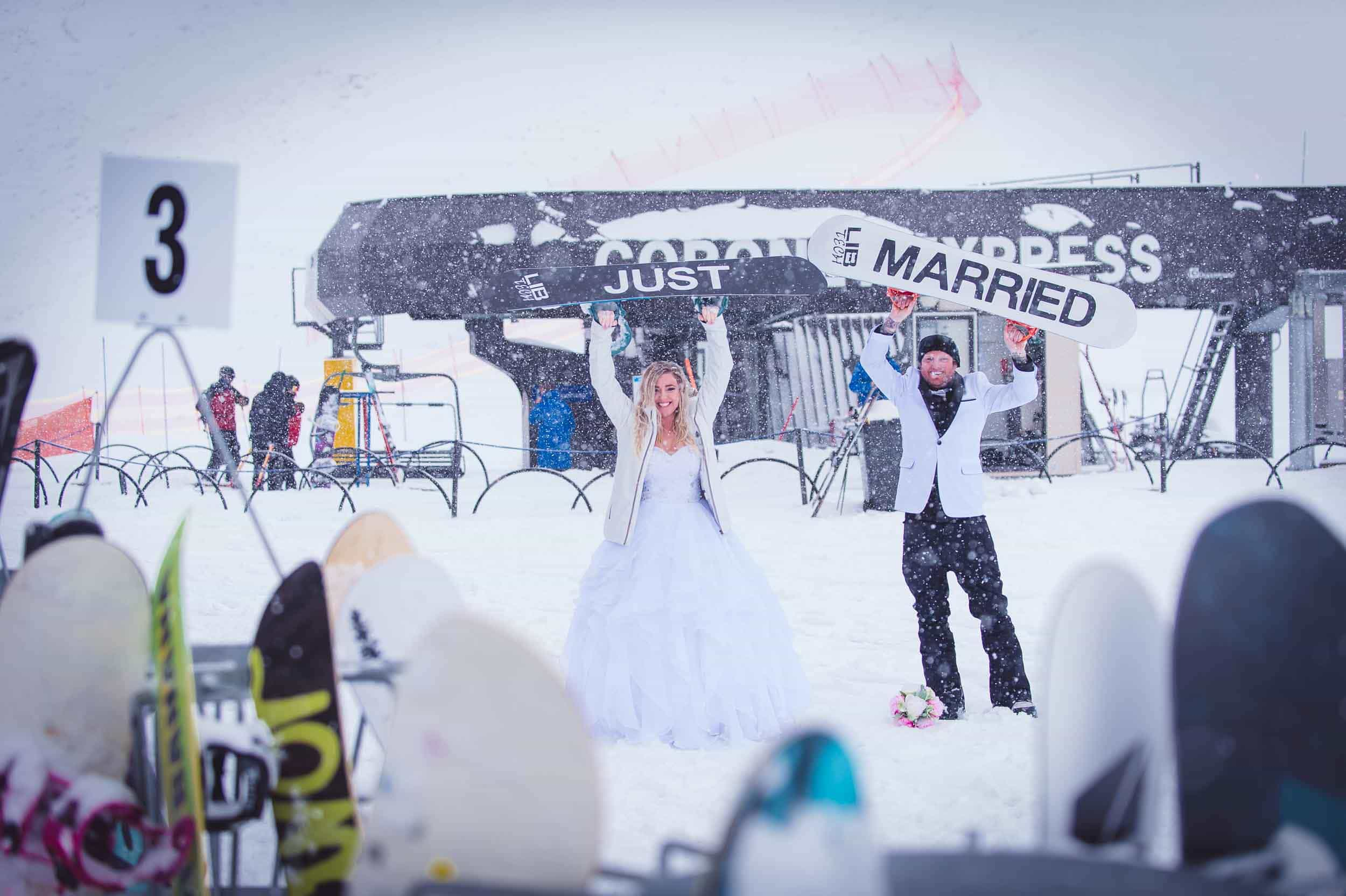 Queenstown Snowboard Wedding
