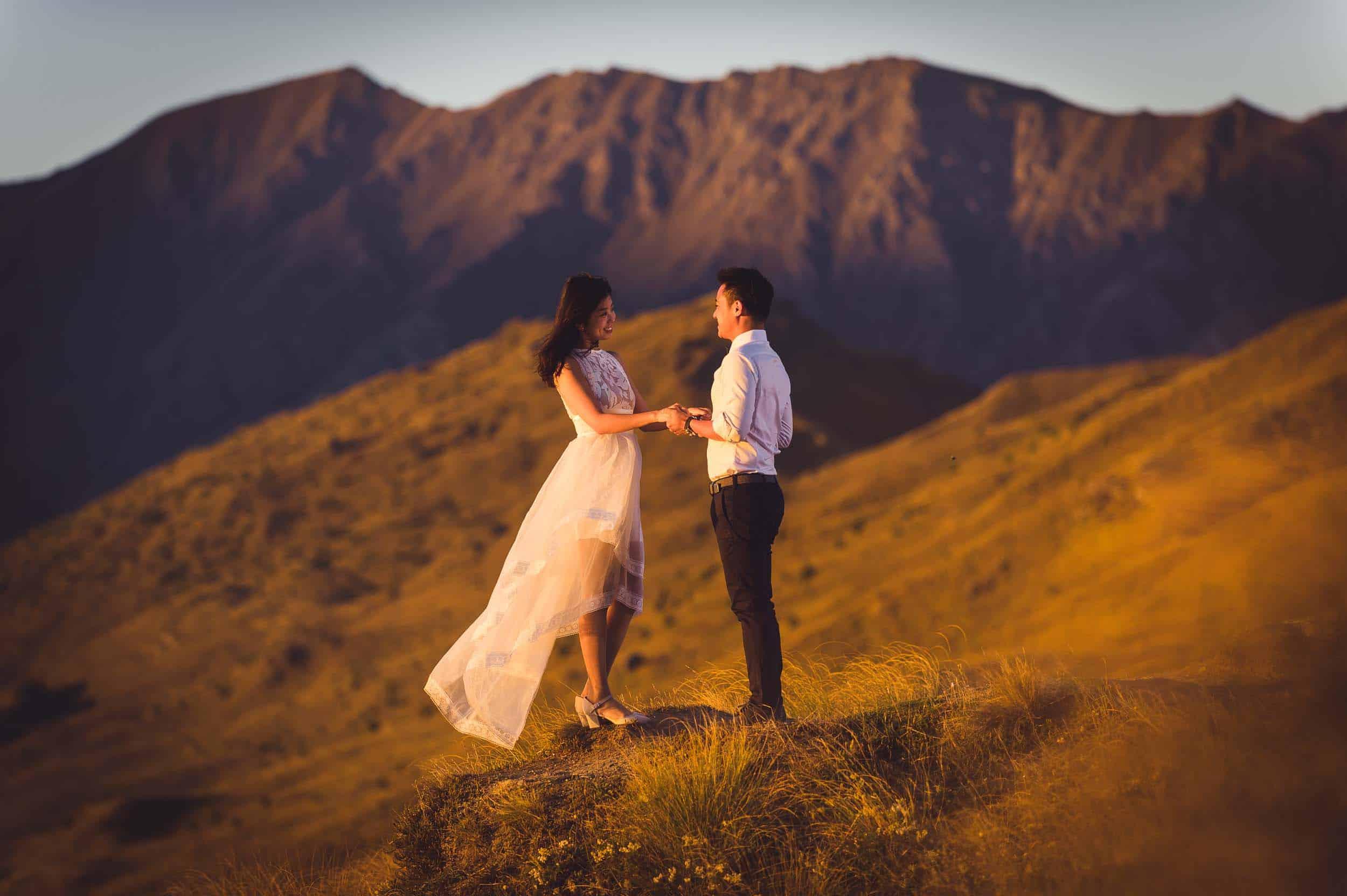 Coronet Peak Sunrise Pre-wedding shoot