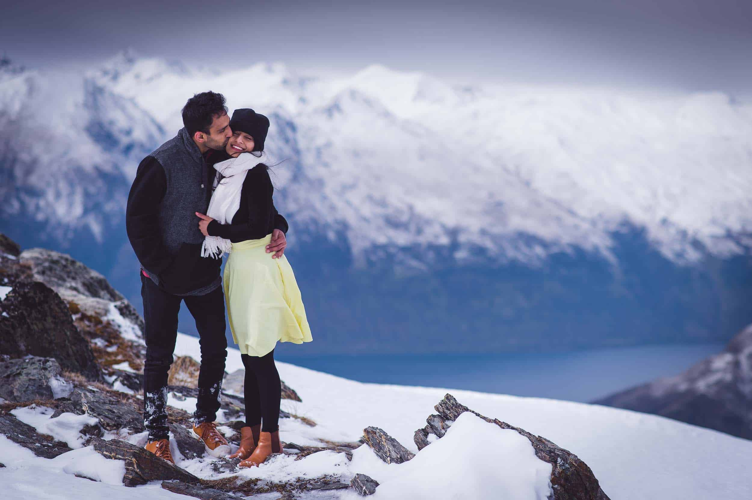blog post featured image Surprise Cecil Peak Heli Engagement Heliworks Queenstown Fallon Photography