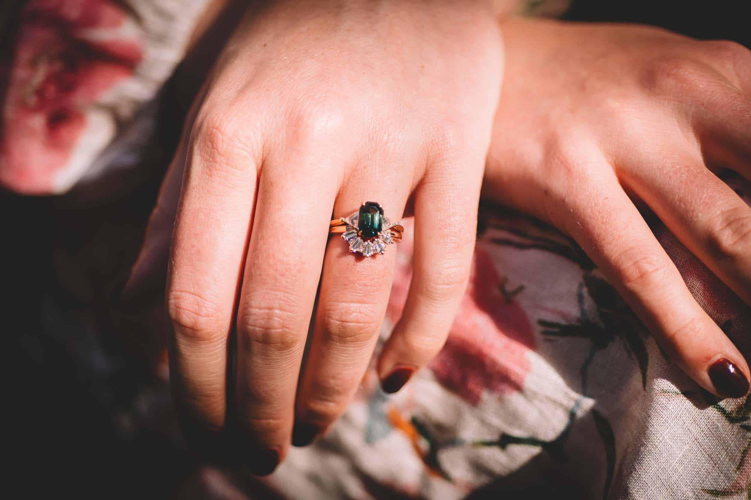 Nick & Nina's Thurlby Domain Elopement wedding ring