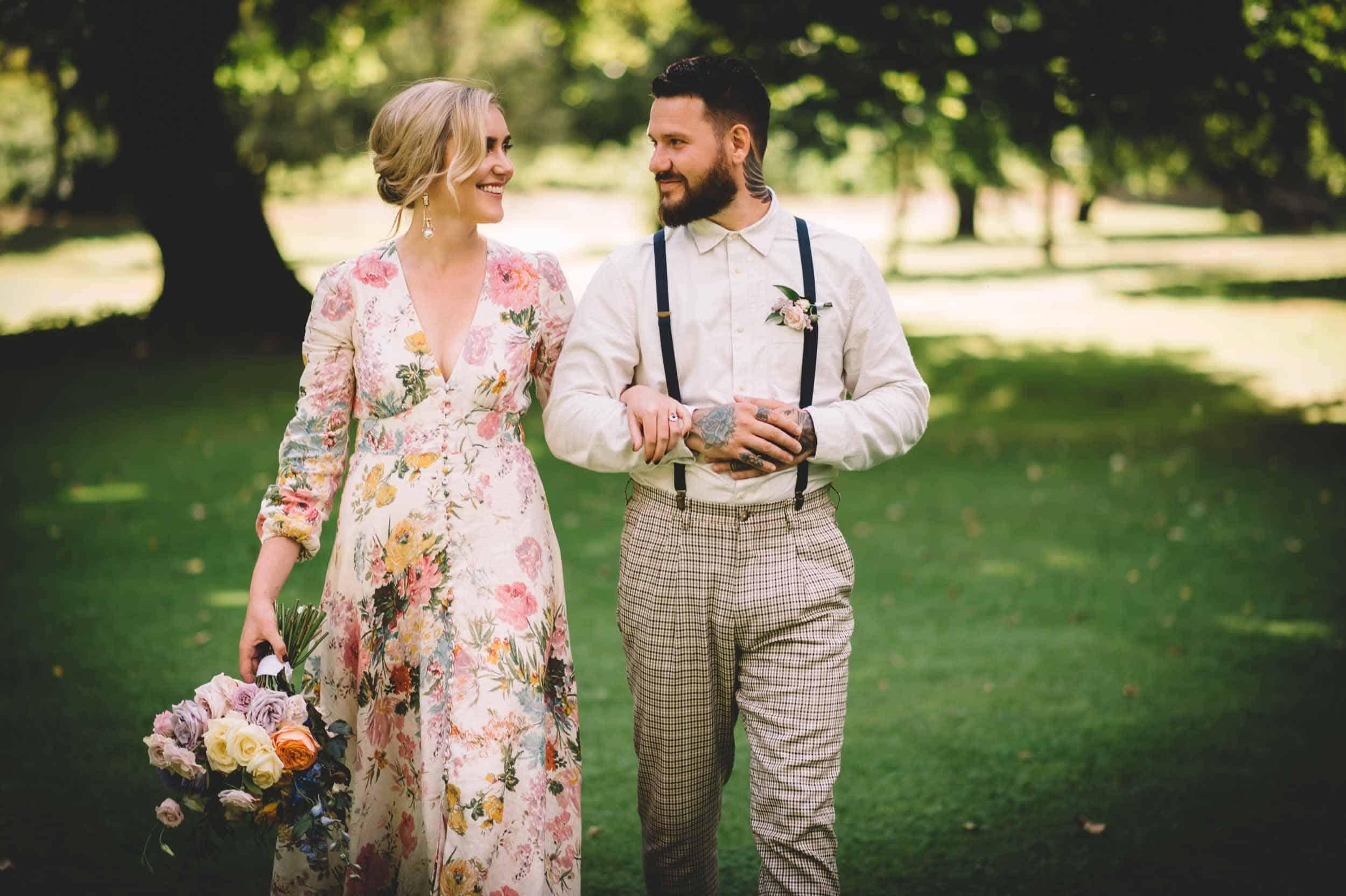 Nick & Nina's Thurlby Domain Elopement bride & groom photos