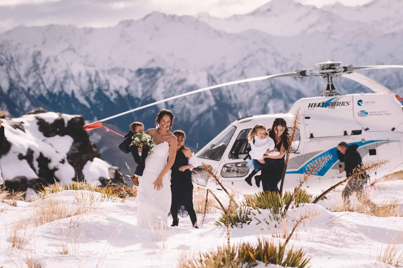 Snowy Cecil Peak Heli Wedding