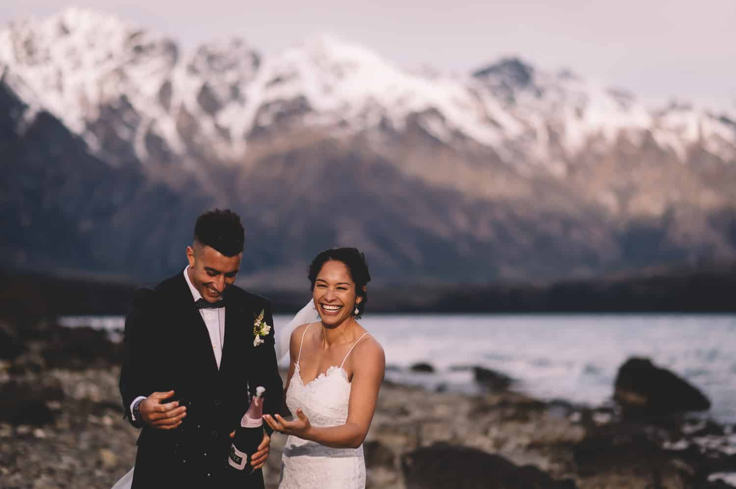 Queenstown Elopement Photography Snowy Cecil Peak Heli Wedding