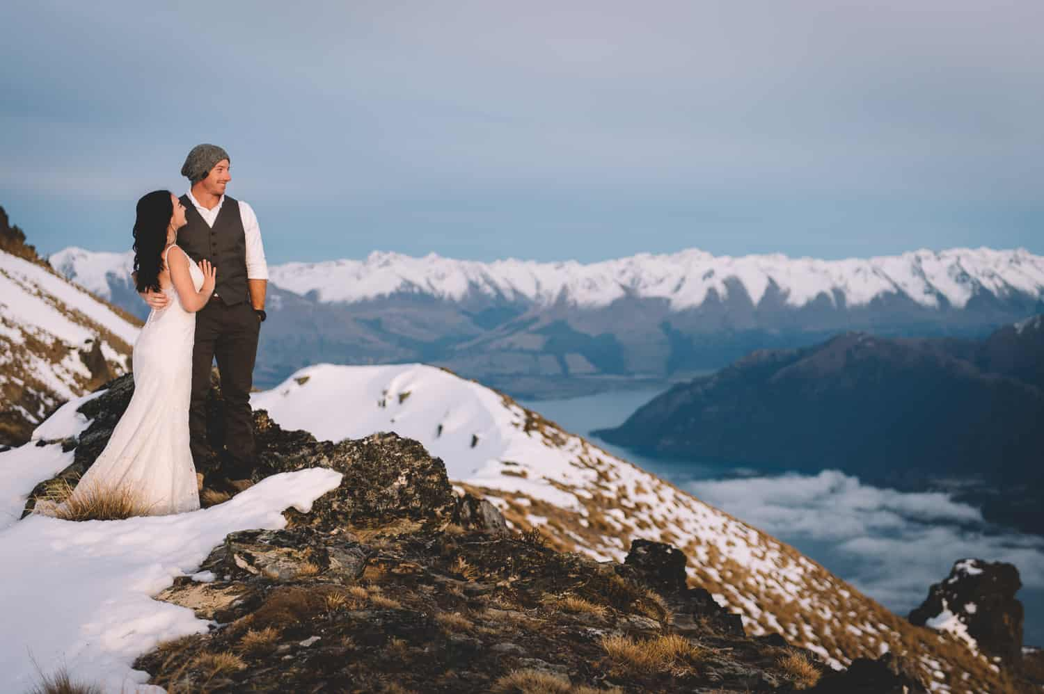 blog post featured image 14 tips for awesome queenstown wedding photos Cecil Peak Post-Wedding Heli Shoot