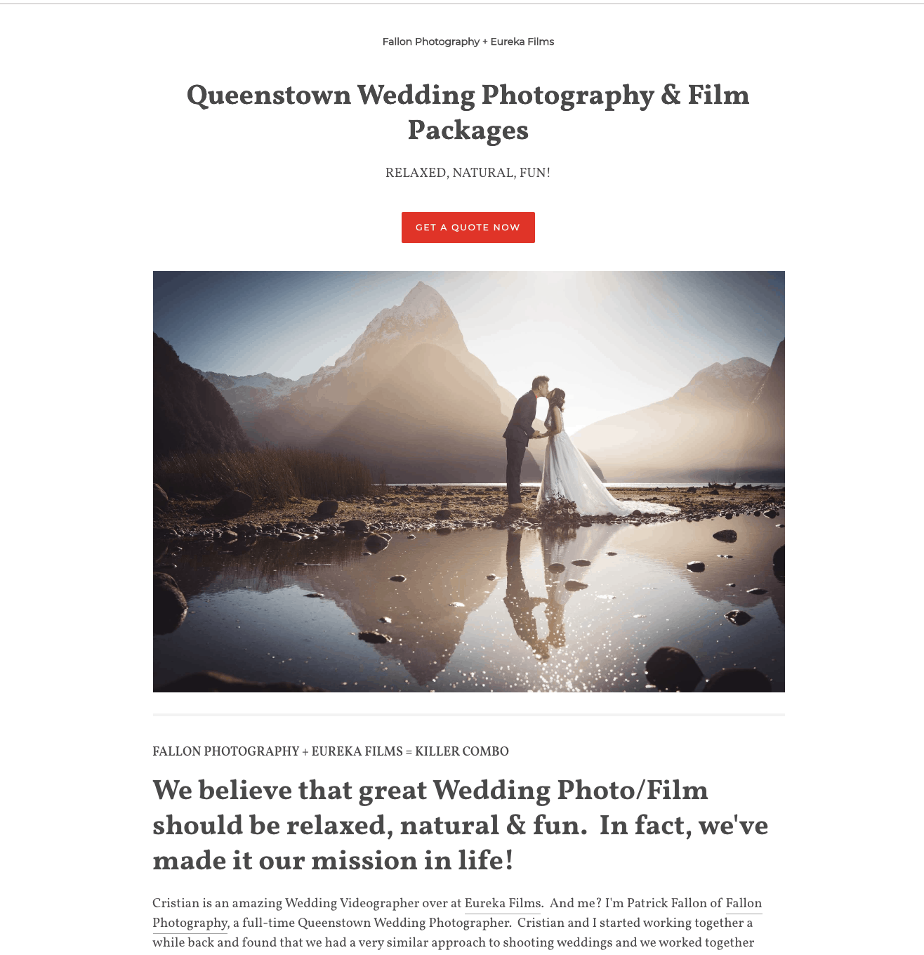 wedding photography packages pdf queenstown wedding packages
