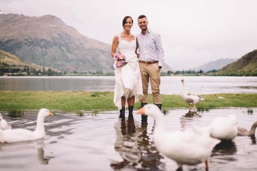 elopement locations queenstown lake hayes ducks